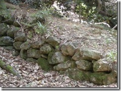 石垣の名残