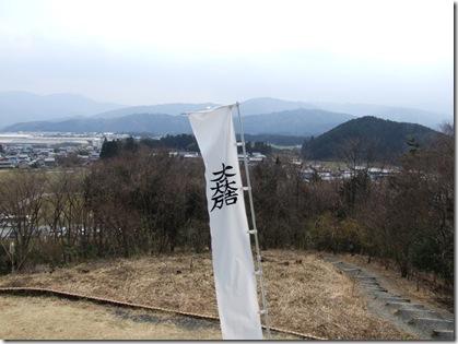 笹尾山から松尾山方面を望む