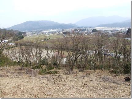 笹尾山から関ヶ原中央部を望む