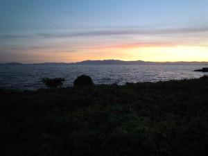 琵琶湖の夕景DSCN6967