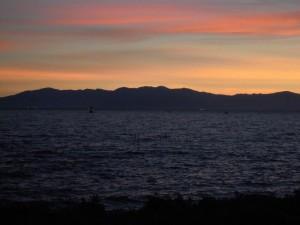 琵琶湖の夕景DSCN6942