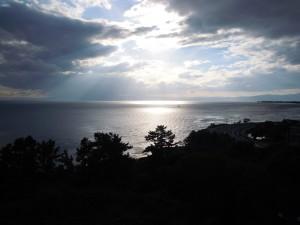 雲間から差す陽光DSCN7416