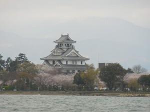 湖上から見た長浜城DSCN1069