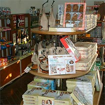 The shop sells a range of local specialties and souvenirs.